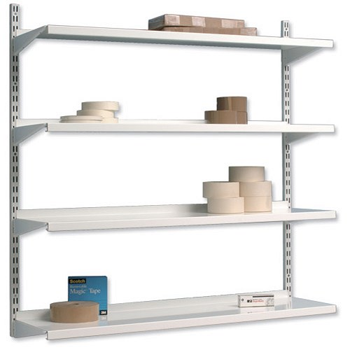 Trexus top shelf shelving unit system 4 shelves wall Wall mounted shelf systems
