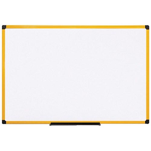 Eyeglass Frame Board Management : Bi-Office Ultrabrite Magnetic Drywipe Board / Yellow Frame ...
