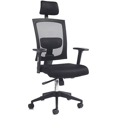 Gemini 200 Mesh Task Chair Adjustable Arms Head Rest
