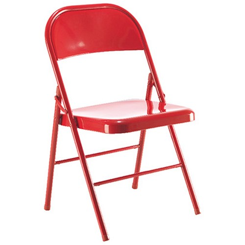 Jemini Metal Folding Chair Red