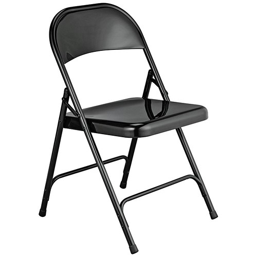 Metal Folding Chair Black