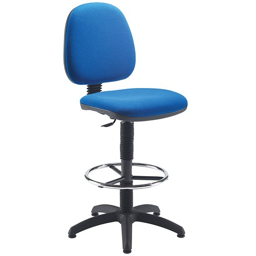 Jemini Medium Back High Rise Chair Blue
