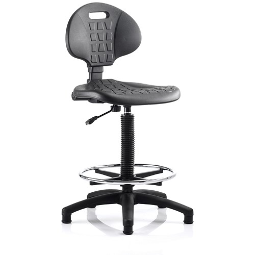 Malaga High Lab Chair Black