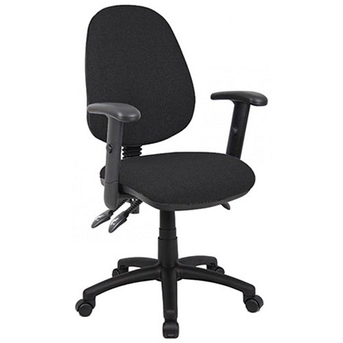 Office Furniture|Office Chairs Vantage Deluxe High Back Operator Chair With Adjustable Arms - Black