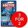 Image of Loctite Super Glue Easy Brush in Anti-spill safety Bottle 5g / 3 Packs for the Price of 2