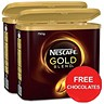 Image of Nescafe Gold Blend Instant Coffee Tin / 750g x 2 / Offer Includes FREE Chocolates