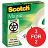 Image of Scotch Magic Tape / 19mmx33m / Matt / 3 for the price of 2