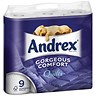 Image of Andrex Toilet Rolls / Quilted / White / 9 Rolls