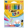 Image of Bic Kids Plastidecor Crayons / Long-lasting / Sharpenable / Vivid Assorted colours / Pack of 12