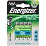 Image of Energizer Advanced Rechargeable Battery / NiMH Capacity 800mAh LR03 / 1.2V / AAA / Pack of 4