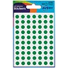 Image of Avery Coloured Labels / 8mm Diameter / Green / 32-302 / 10 x 520 Labels
