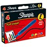 Image of Sharpie Flipchart Marker / Water-based Ink / Assorted Colours / Pack of 4