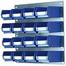 Image of Louvred Panel / W457xH438mm / 16 x Container Bins / W165xD100xH75mm