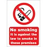 Image of No Smoking Sign 210x297mm (A4) White Self-adhesive Vinyl