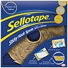 Image of Sellotape Sticky Hook Spots in Handy Dispenser / 22mm Diameter / Yellow / 125 Spots