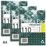 Image of Pukka Pad Recycled Wirebound Notebook / A4 / 4 Holes / Perforated / Ruled with Margin / 110 Pages / Pack of 3