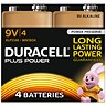Image of Duracell Plus Power Alkaline Battery / 9V / Pack of 4