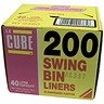 Image of Robinson Young Le Cube Swing Bin Liners / 44 Gauge / 1140x760mm / Pack of 200