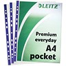 Image of Leitz Premium Polished Presentation Pockets / Top & Side-opening / A4 / Clear / Pack of 25