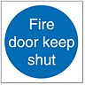 Image of Stewart Superior Fire Door Keep Shut Self Adhesive Sign Ref M014PVC [Pack 5]