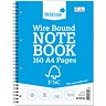 Image of Silvine Wirebound Notebook / A4 / Perforated / 160 Pages / Pack of 5
