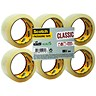 Image of Scotch Classic Packaging Tape / 50mmx66m / Clear / Pack of 6