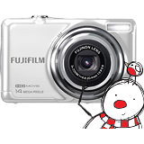 Free on Orders over £849 - Fujifilm FinePix JV500 Digital Camera - White