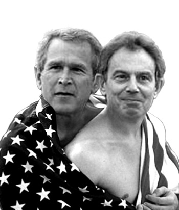 blair and bush are friends