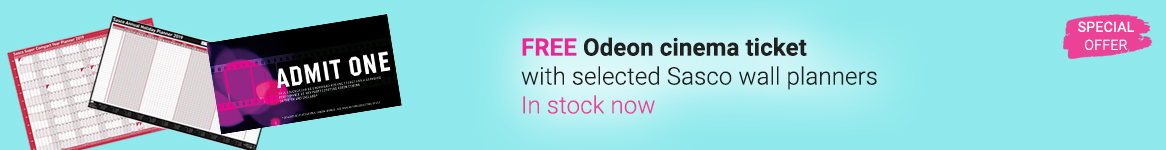 Free Odeon cinema ticket with Sasco wall planners
