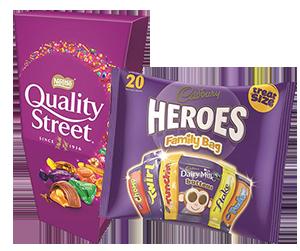 Free chocolates & snacks