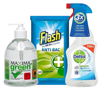 Clean all surfaces