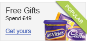 Go to our free gifts section to add free chocolates to your basket