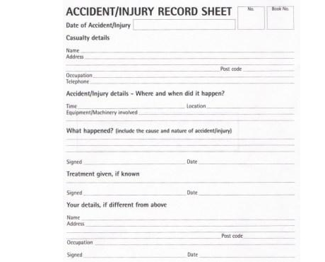 accident book reporting The accident report book template is an open format microsoft word document that allows the wording to be adjusted to suit different needs this accident report book template is included in our health and safety folder .