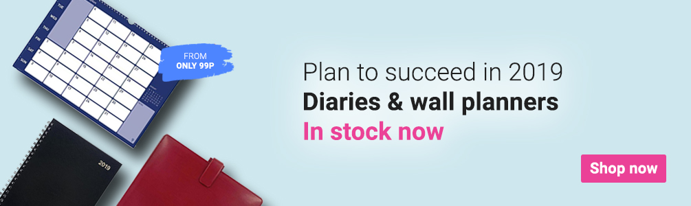 2019 Diaries and Wall Planners now in stock